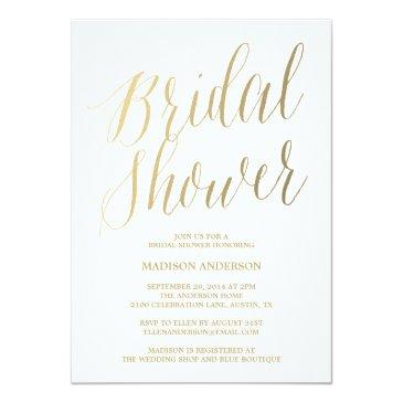 Small Modern Script | Bridal Shower Invitations Front View