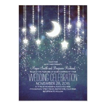 Small Moon Stars & String Lights Wedding Front View