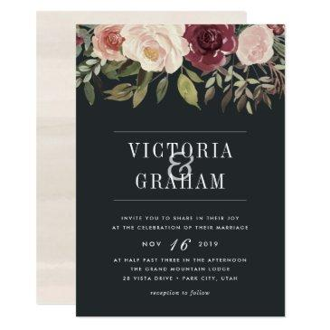 moonlight garden wedding invitations