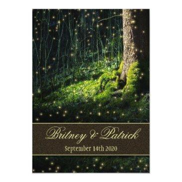 moss enchanted forest firefly wedding