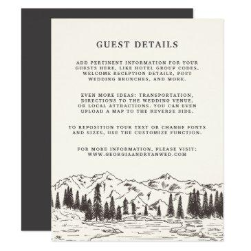 mountain sketch wedding guest details