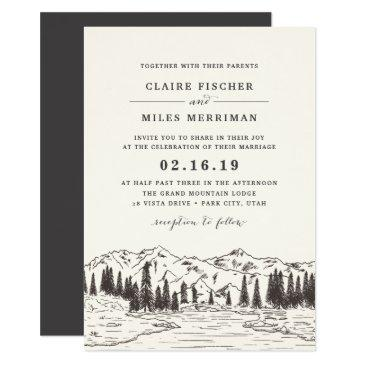 mountain sketch wedding