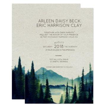 mountain wedding/party invitations