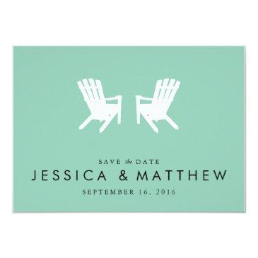 muskoka chairs save the date // turquoise