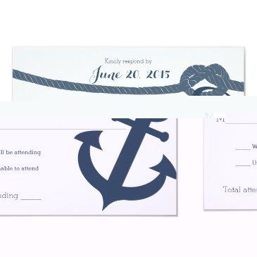 nautical anchor and rope wedding response