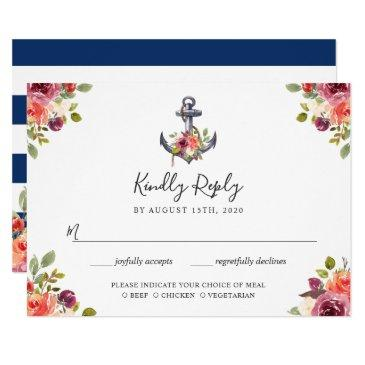 nautical anchor floral navy blue stripes rsvp
