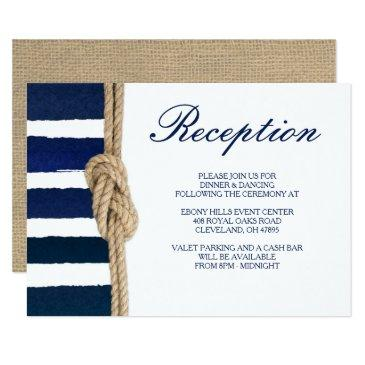 nautical knot & watercolor navy stripes reception