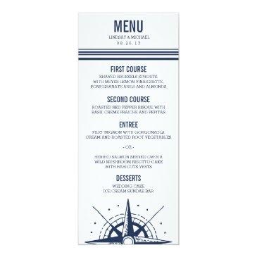 nautical modern wedding menu
