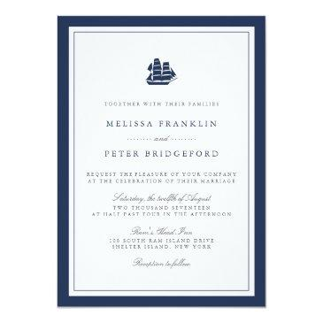 nautical navy and white wedding  | ship