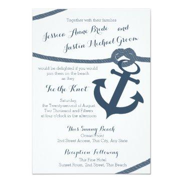 nautical rope and anchor wedding