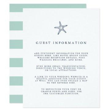 nautical starfish wedding guest details