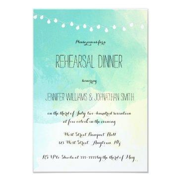 nautical watercolor rehearsal dinner