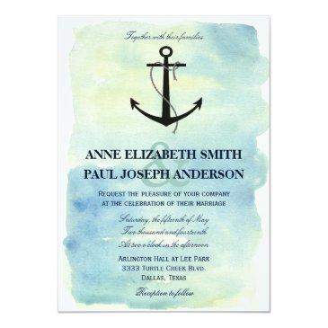 nautical watercolor wedding