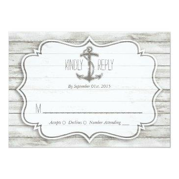 Small Nautical Whitewashed Wood Beach Wedding Collection Front View
