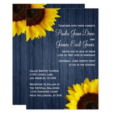 navy blue & sunflower wedding