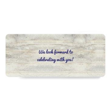 Small Navy Nautical Anchor Boarding Pass Wedding Ticket Back View