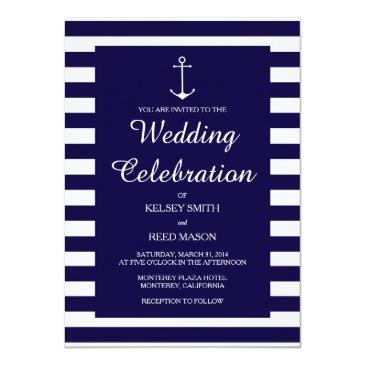navy nautical : wedding