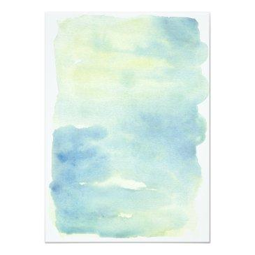 Small Ocean Watercolor Wedding Back View
