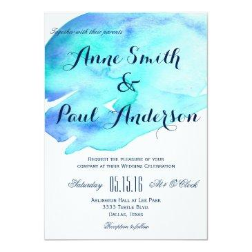 Small Ocean Watercolor Wedding  Iv Front View