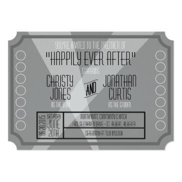 old hollywood ticket style