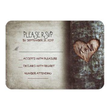 Small Old Tree Rustic Wedding Rsvp Front View