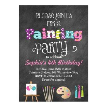 painting art party chalkboard style