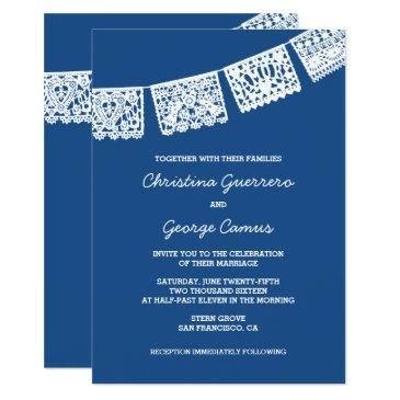 papel picado blue | wedding