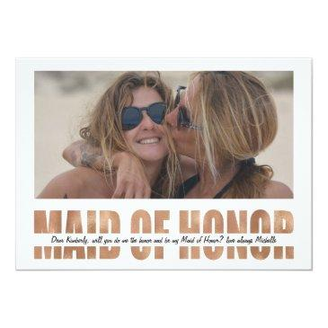 personalize photo will you be my maid of honor