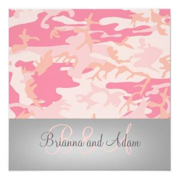 personalized hunting theme pink camo wedding
