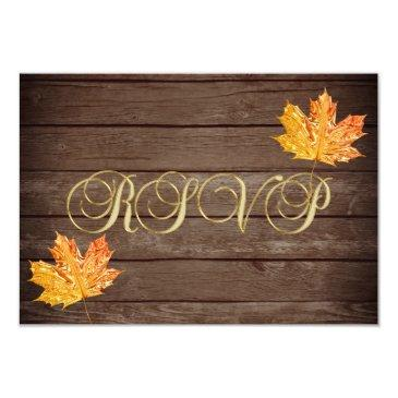 personalized rustic wood country fall rsvp wedding