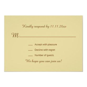 Small Personalized Rustic Wood Country Fall Rsvp Wedding Invitation Back View