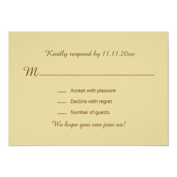Small Personalized Rustic Wood Country Fall Rsvp Wedding Back View