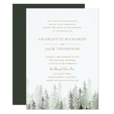 pine forest wedding invitations