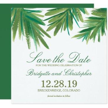 pine woods watercolor | save the date