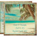 pixdezines vintage beach, tropical paradise invitation