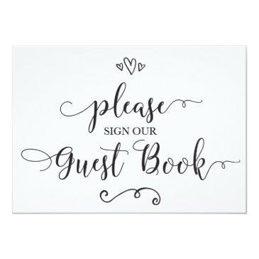 please sign our guest book wedding sign