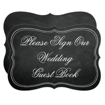 please sign our wedding guest book chalkboard sign