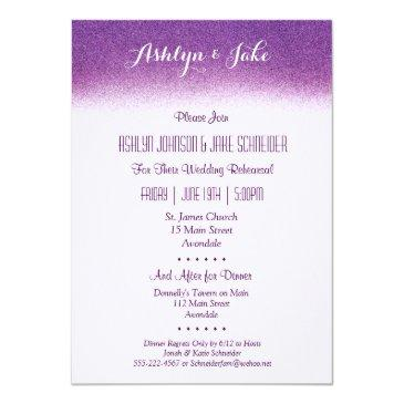 Small Plum Wedding Rehearsal And Dinner Invitations Front View