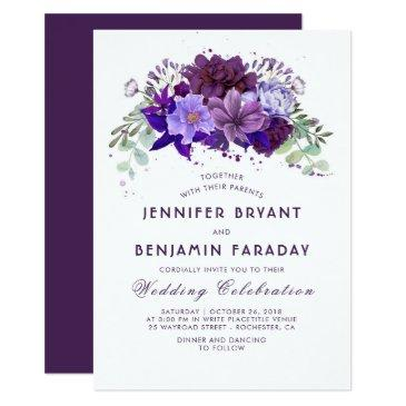 plum and violet floral purple elegant wedding