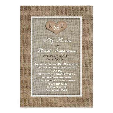 post wedding reception  -- burlap