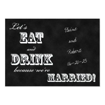 Small Post Wedding Reception  -- Chalkboard Front View