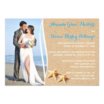 post wedding reception only photo template invite