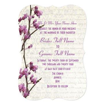 pretty feminine mauve floral wedding