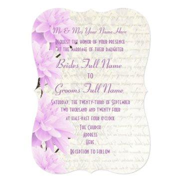 pretty feminine pale pastel lilac floral wedding