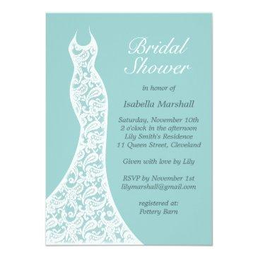 pretty turquoise bridal shower