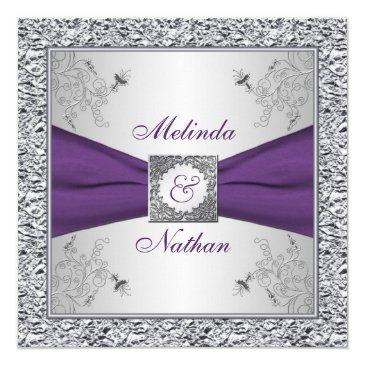 printed ribbon purple silver wedding  ii