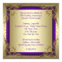 purple and gold 50th wedding anniversary party