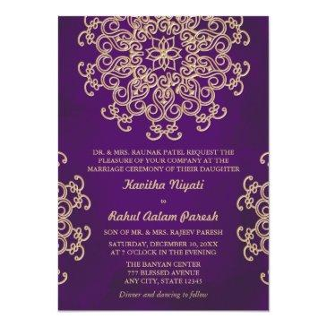 purple and gold indian style wedding