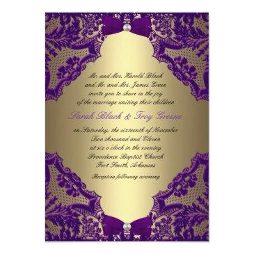 Small Purple And Gold Wedding Front View