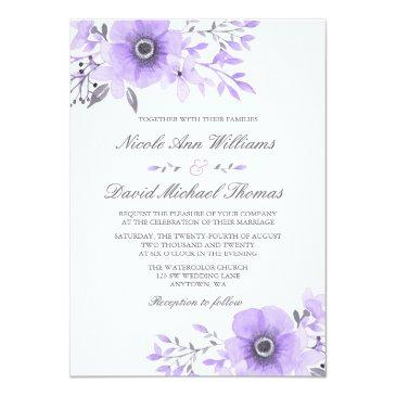 purple and gray watercolor floral wedding v2